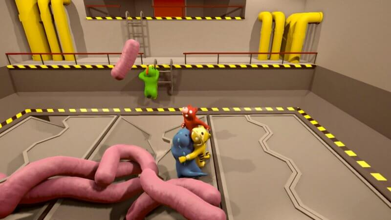Gang Beasts fighting coop